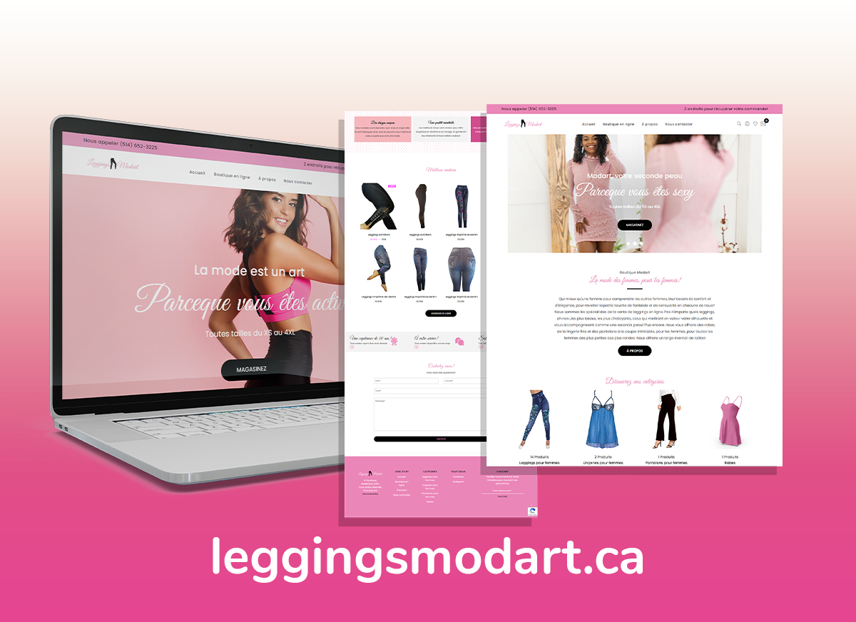 Réalisation d'une boutique de vêtements en ligne